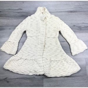 Free people cardigan chunky knit bell sleeves XS